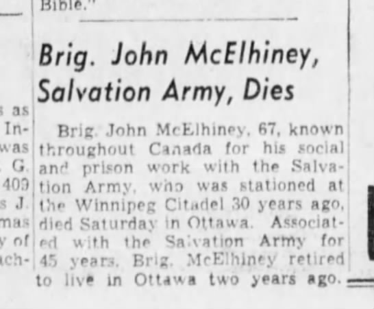 John McElhiney Obit 2 Dec 29 1942 -