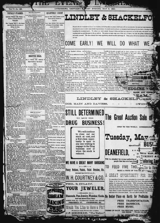 Messenger-Inquirer - May 5, 1890 -