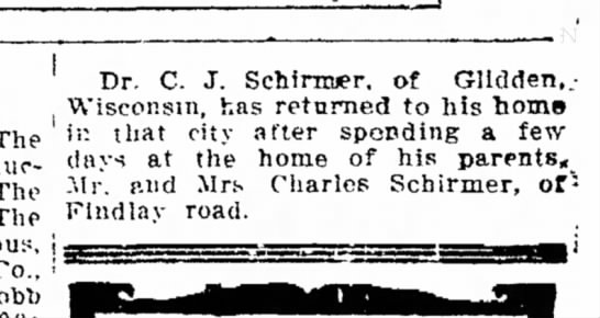 Schirmer, Charles J Dr. - Return Home After Visit -