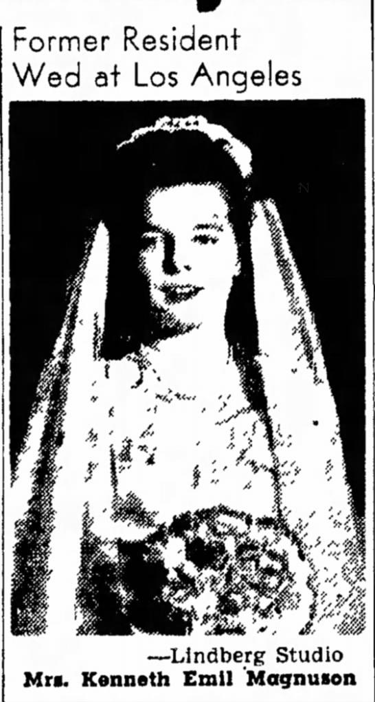Joan Frances Andersen wedding pic -