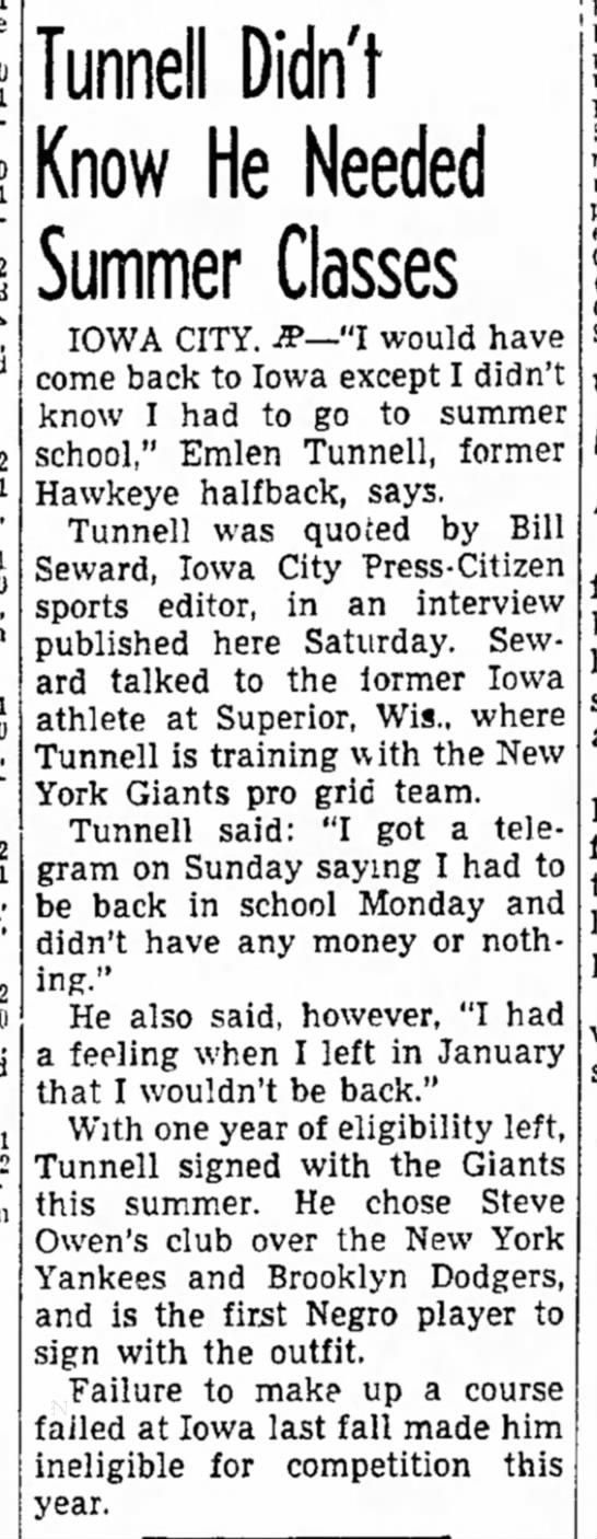 Tunnell Didn't Know He Needed Summer Classes -