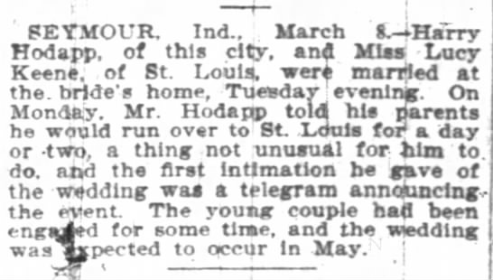 The Indianapolis News Indianapolis, Indiana 8 Mar 1901 -