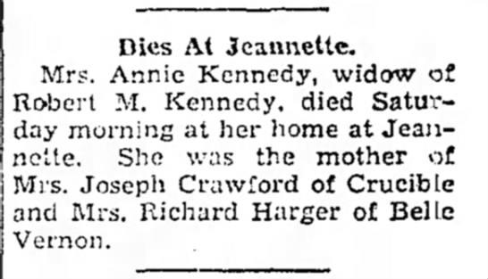 Annie Kennedy death -