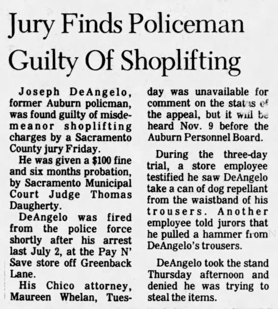 Joseph DeAngelo found guilty of shoplifting - Newspapers com