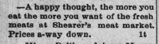 """""""The more you eat, the more you want""""--meat (1890). -"""