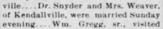 Snyder_Dr The Waterloo Press (Waterloo, Indiana) 11 July 1901 p 8 Corunna -