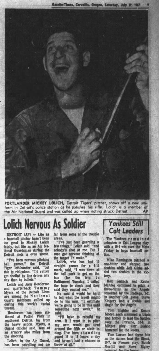 Lolich Nervous As Soldier -