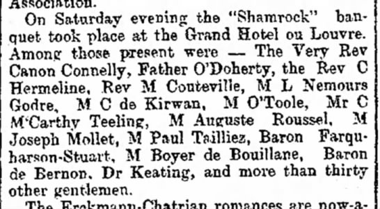 Paul Boyer de Bouillane — The Freeman's Journal (Dublin, Ireland) Wednesday, March 22, 1899. -