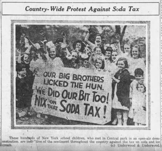 """Nix on that soda tax!"" -"