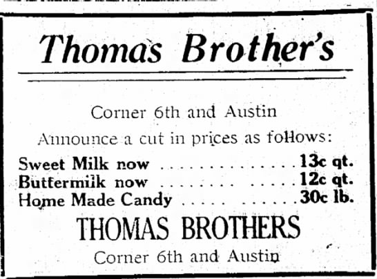 Thomas Brother's ad -