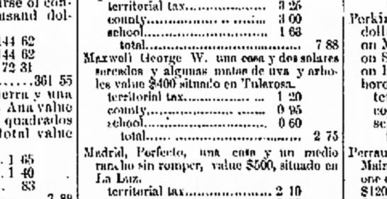 Delinquent tax sale Nov 1881 -