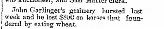 The Lima News, 6 October 1891, Page 5 John Garlinger's grainery bursted last week and he lost $800 o -