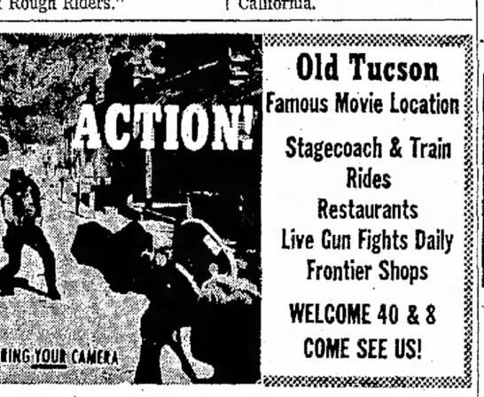 Old tucson, my favorite place to go as a kid says there are four matches -