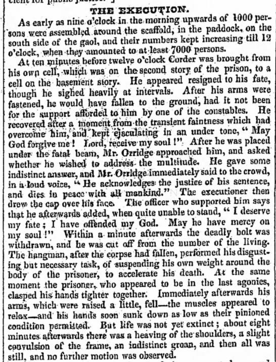 Execution of William Corder -