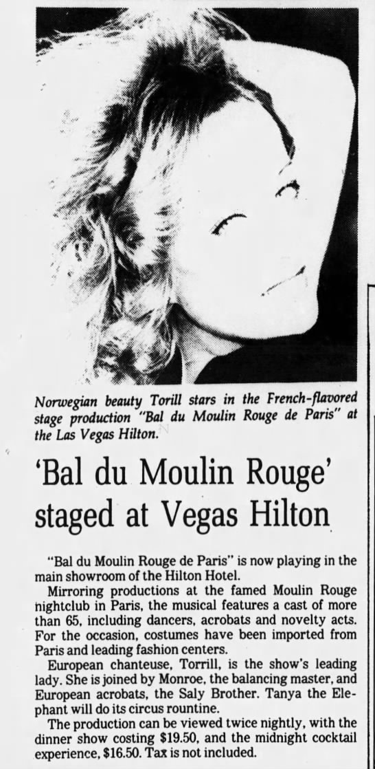 'Bal du Moulin Rouge' staged at Vegas Hilton -