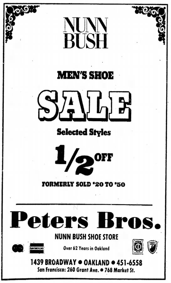 Peters Brothers -- Nunn Bush shoes -