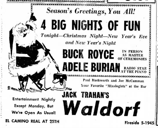 adele music gig ad - Season's Greetings, You All! 4 BIG NIGHTS OF...