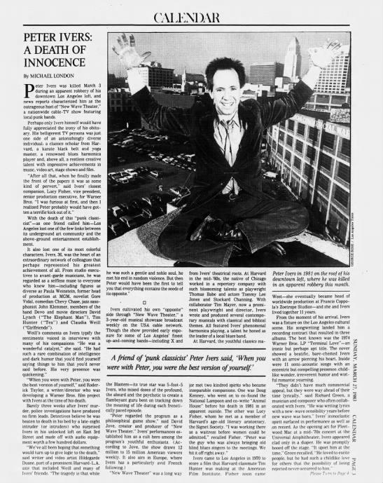 19830327 - LA Times - A Death of Innocence -