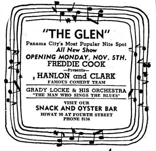 Hanlon and Clark, Panama City, FL Nov. 1951 -