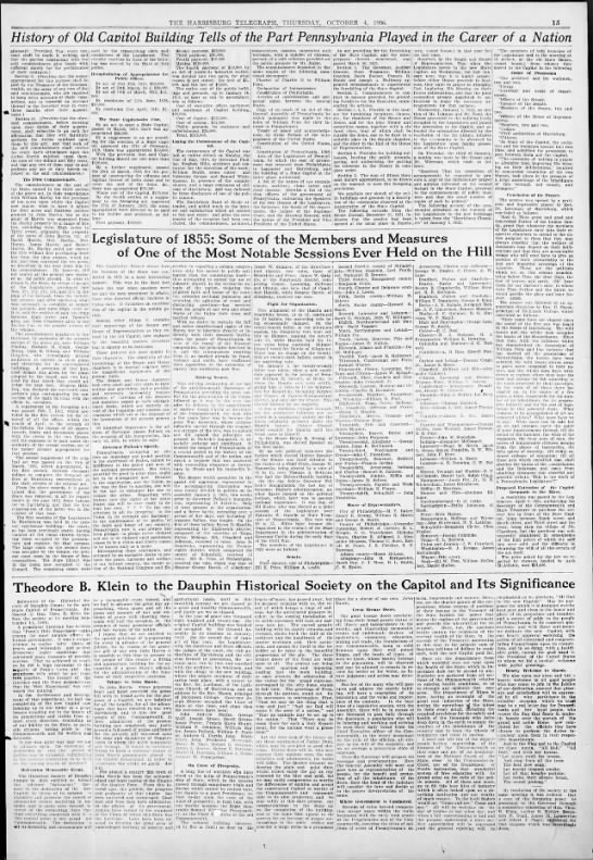 History of the Capitol p2 1906 -