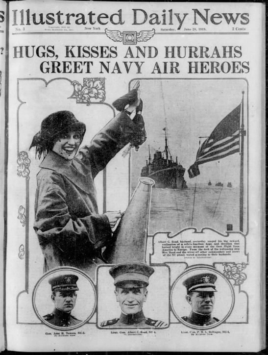 Front Page of the Illustrated Daily News, June 28, 1919 -