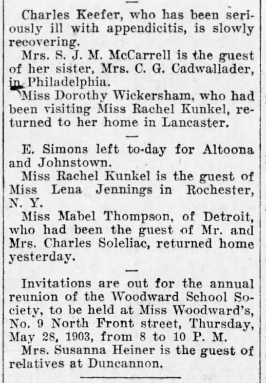 1903 Mabel Thompson of Detroit visited MM Soleliac -