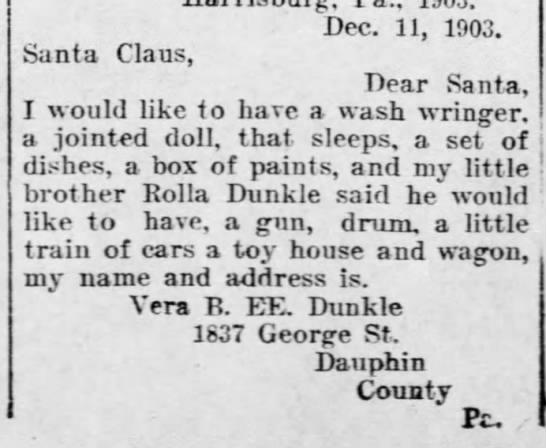 Harrisburg Telegraph (Harrisburg, PA), Dec 19, 1903, p. 9 -