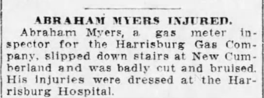 a myers, gas inspector, injured -