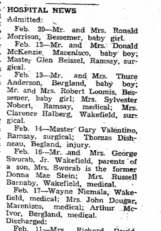 birth announcemet of gary or darrell - east and main- State hands rifle while...