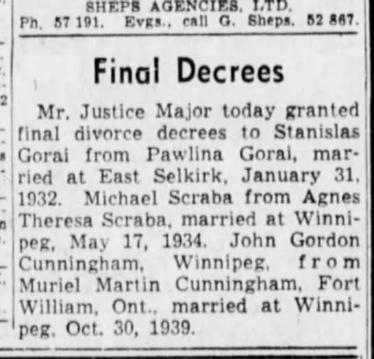 June 9, 1943 Winnipeg Tribune -