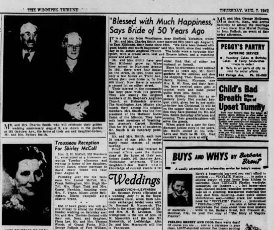 Smith Anniversary, WT 7 Aug 1947, p 10. -