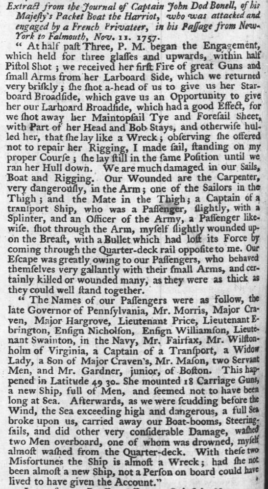 1757 Major Craven -