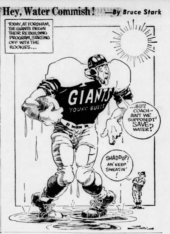 Cartoonist Bruce Stark was known for caricatures of sports figures -