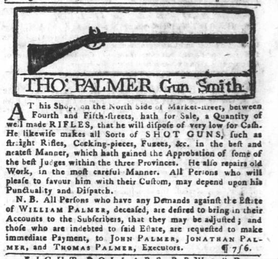 1774 ad for rifles Philidelphia - r A his Sh o - , an me iurin aioe ui...