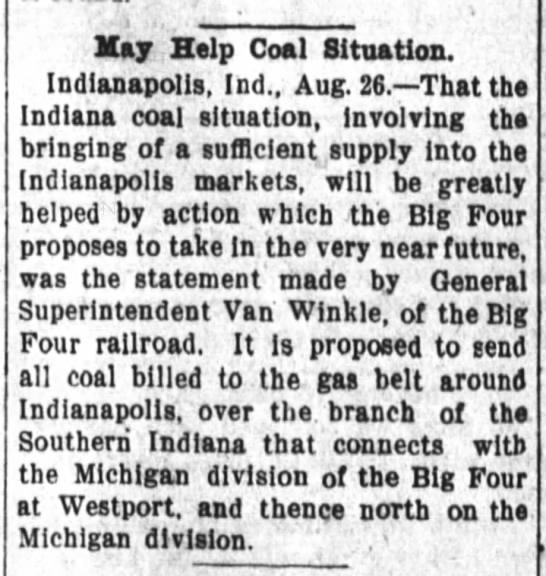 Indiana Southern coal Daily New Democrap 26 Aug 1904 -