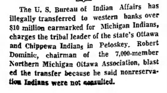 The Evening News (Sault Sainte Marie, Michigan) 13 February, 1973, p 1 -