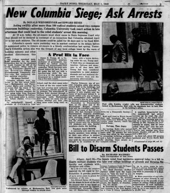 Columbia, events of 30 Apr 1969, part 1 of 2 - Newspapers com