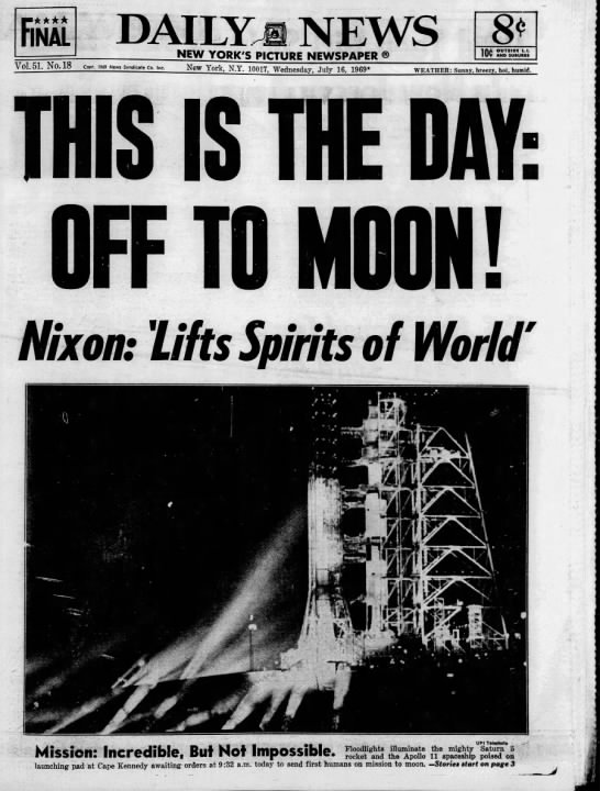 This is the Day: Apollo 11 to lift off -