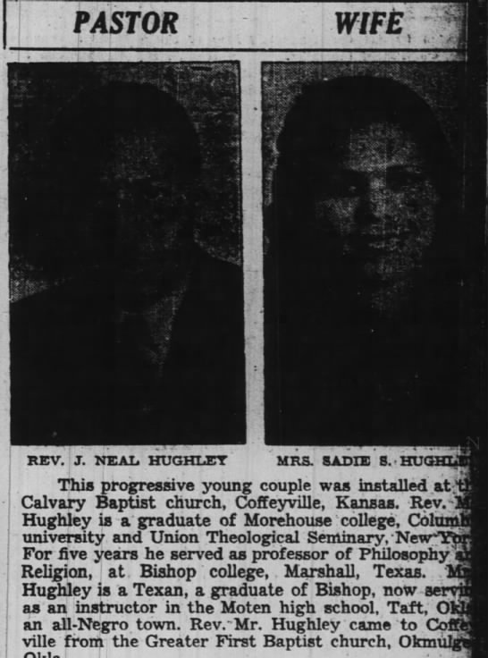 Pastor - Wife. The Pittsburgh Courier (Pittsburgh, Pennsylvania) December 9, 1939, p 15 -