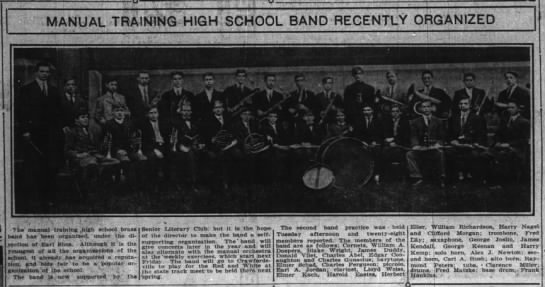 Manual Training High School Band -