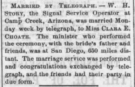 Married by Telegraph -
