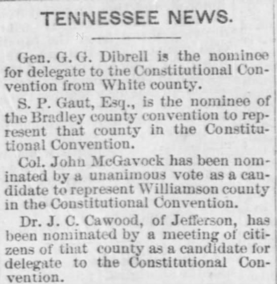 JC Cawood nomination
