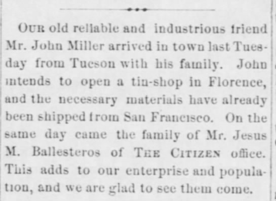AZ Weekly Citizen (Tucson)  11 January 1878 -