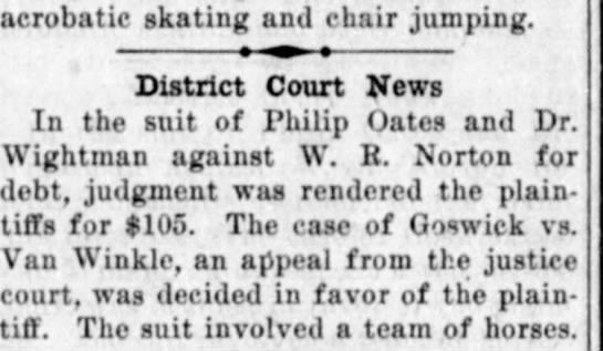 Goswick Az Silver Belt June 23 1907 -