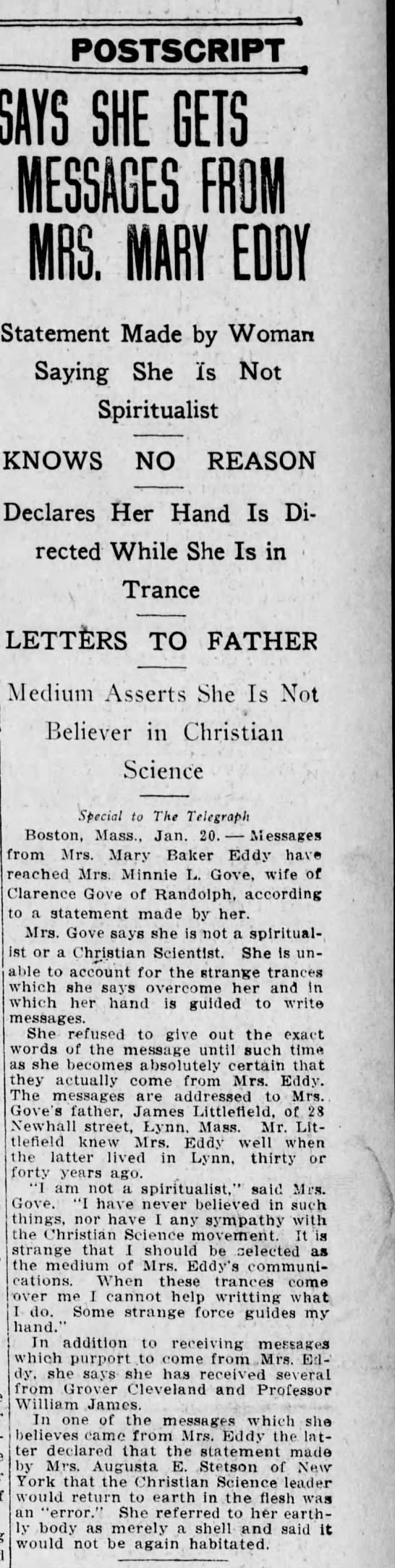 Harrisonburg Telegraph jan 11, 1911 -