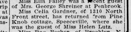 Celia Gardner of 1310 North Front Street, Harrisburg, Pennsylvania. -