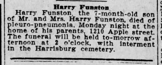 Child of Harry Funston -