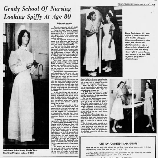 Grady School of Nursing 80th anniversary, mentions Ludie Clay ...