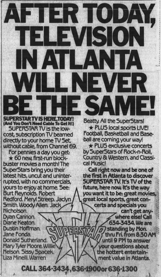 AFTER TODAY, TELEVISION IN ATLANTA WILL NEVER BE THE SAME! -