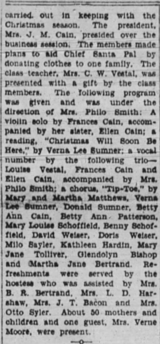 21 Dec. 1927, Springfield Leader Martha and Mary Matthews, part 2 -